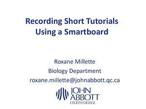 PowerPoint on Making Tutorials with a SmartBoard