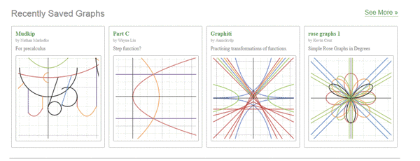 Examples of Work Created in Desmos