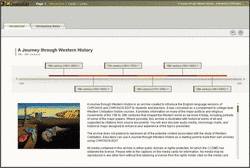 A Journey Through Western History interface