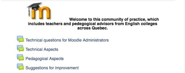 Moodle community of practice