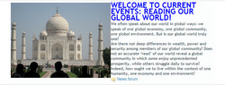 Article header : Welcome to current events : reading our global world!