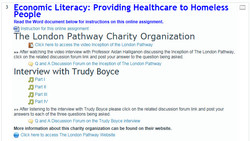 Article header : Economic Literacy : providing hearltcare to homeless people