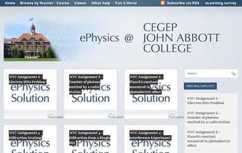 Video Solutions at ePhysics.ca