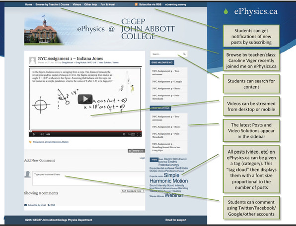 All content including webinars is hosted at ePhysics.ca