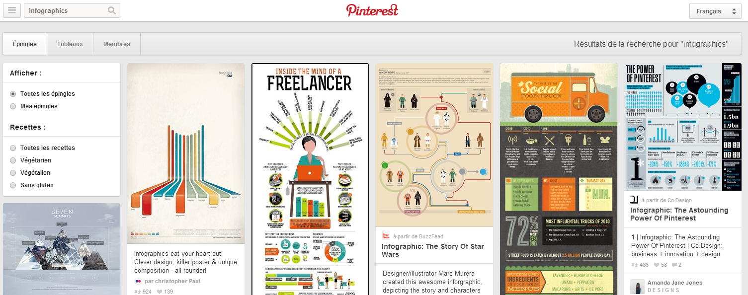 A search for Infographics in Pinterest will provide a wealth of inspiration