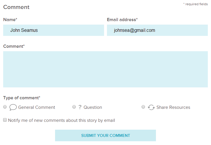 Use the same email address you used to create your Gravatar profil in the Email address field
