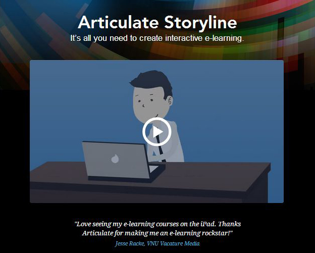 Articulate storyline, it's all you need to create to create interactive courses