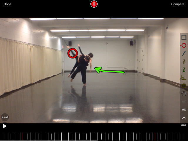 Notes overlaying a video of students dancing