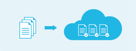 Infography: document submited via the cloud