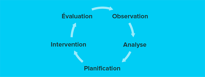 Observation, analyse, planification, intervention et évaluation