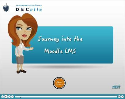 Introductory screen to one of the eLearning modules
