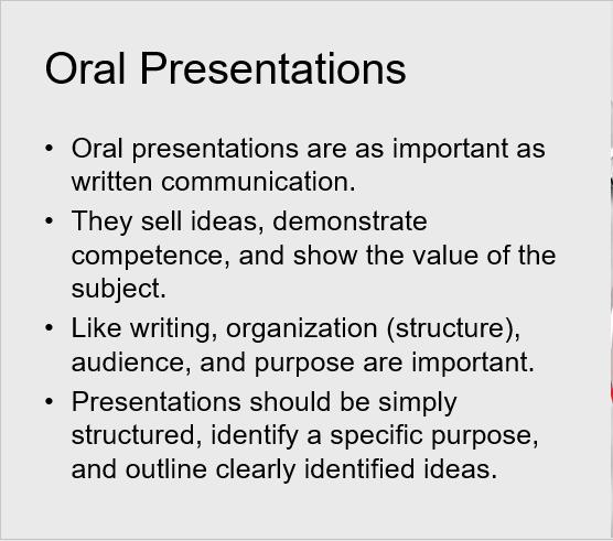 Importance Of Oral Presentation 86