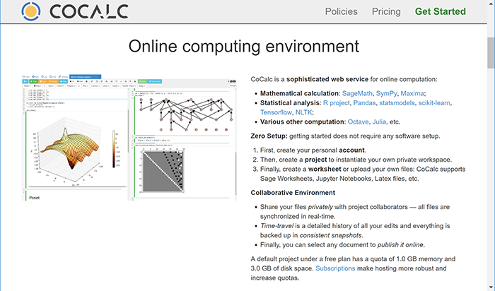 Mathematics and Programming in the Cloud with CoCalc | Real Life