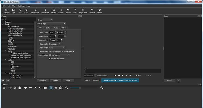 Shotcut: A Free, Open-Source and Multi-platform Video Editor
