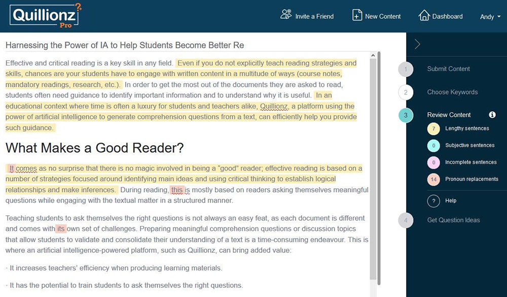 Harnessing the Power of IA to Help Students Become Better