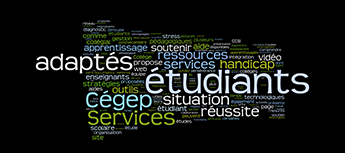 Services adaptes word cloud