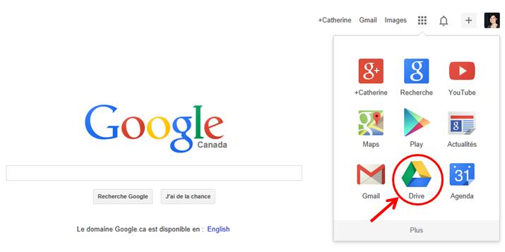 Accéder au Disque de Google (Google Drive)