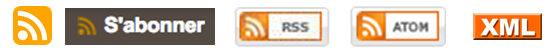 Different icons indicating a site's RSS feed.