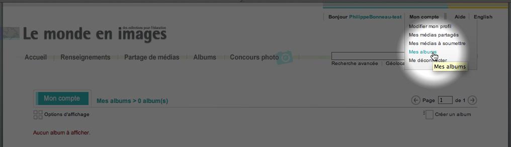 Lien pour créer un compte ou pour vous connecter dans Le monde en images